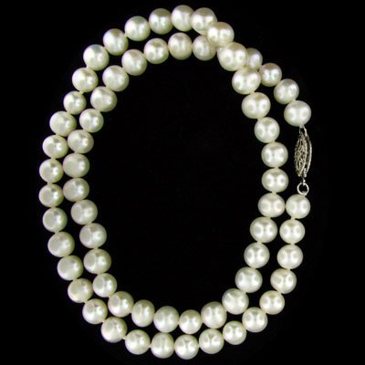 15: 16'' Pearl Necklace-Single Strand - Great Gift Idea