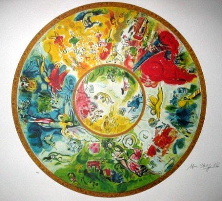 41: MARC CHAGALL Paris Opera Ceiling Print-Limited Edit