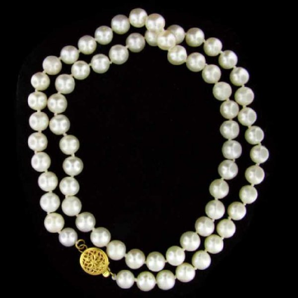 1426: 14 kt. Gold, Pearl Necklace-Great Gift Idea!