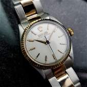 Rolex Vintage 1952 Oyster Perpetual 14k Rose Gold SS
