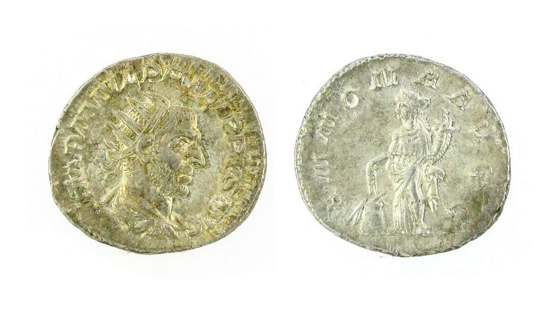 Very Rare Approximately 300 A.D. Roman Denarius Silver