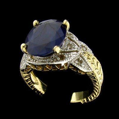 2704: APP: 6.8k 14 kt. Gold, 6.10CT Sapphire and Diamon