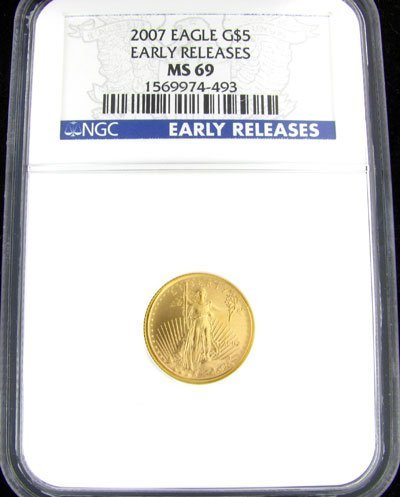 2706: 2007 $5 U.S. Eagle Gold Coin-Investment Potential