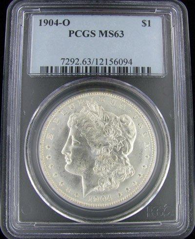 2726: 1904-O U.S. Morgan Silver Dollar Coin-Investment
