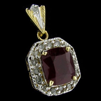 2736: APP: 34.1k 14 kt. Gold, 10.04CT Ruby and Diamond