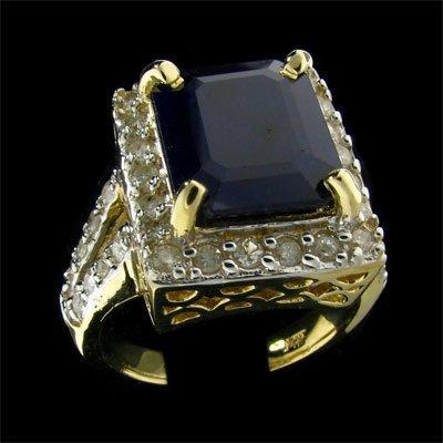 2740: APP: 15k 14 kt. Gold, 6.19CT Sapphire and Diamond