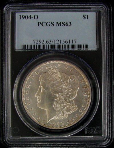 2744: 1904-O U.S. Morgan Silver Dollar Coin-Investment