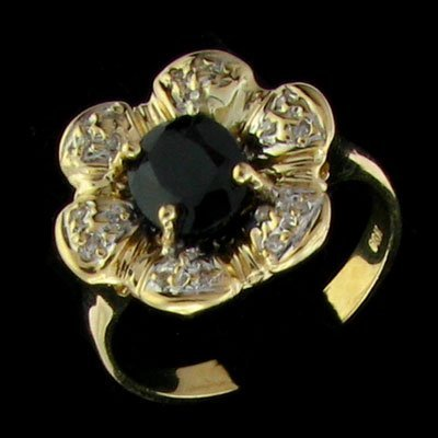 1000: APP: 2.4k 14 kt. YW Gold, 5.60CT Sapphire and Dia