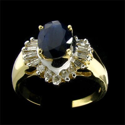 1006: APP: 3k 14 kt. Gold, 1.62CT Sapphire and Diamond