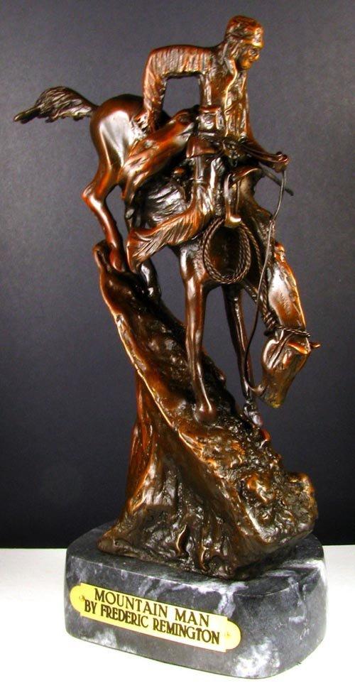 1018: Frederic Remington Bronze Reproduction - Mountain