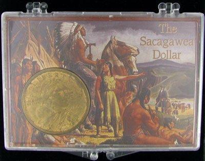1028: 2000 Sacagawea Dollar in Snaplock Display