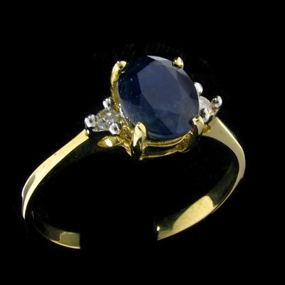 3034: 14 kt. Gold, Sapphire and Diamond Ring