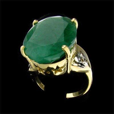 3009: APP: 12.2k 14 kt. Gold, 11.03CT Emerald and Diamo