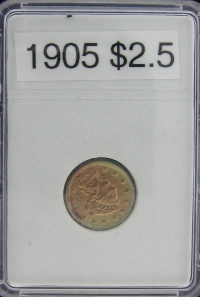 3019: 1905 $2.5 US Liberty Gold Coin-Investment Potenti