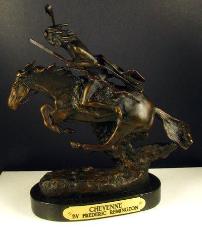 13: Frederic Remington Bronze Reproduction - Cheyenne