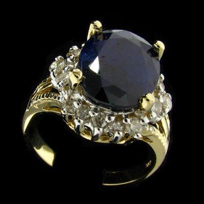 25: APP: 8k 14 kt. Gold, 4.04CT Sapphire and Diamond Ri