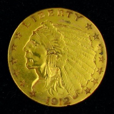 29: 1912 $2.5 U.S. Indian Head Type Gold Coin-Investmen