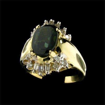 47: APP: 3.6k 14 kt. Gold, 1.77CT Sapphire and Diamond