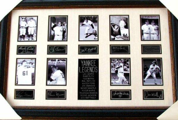 25: Rare Yankee Legends Collage Facsimile Autographed