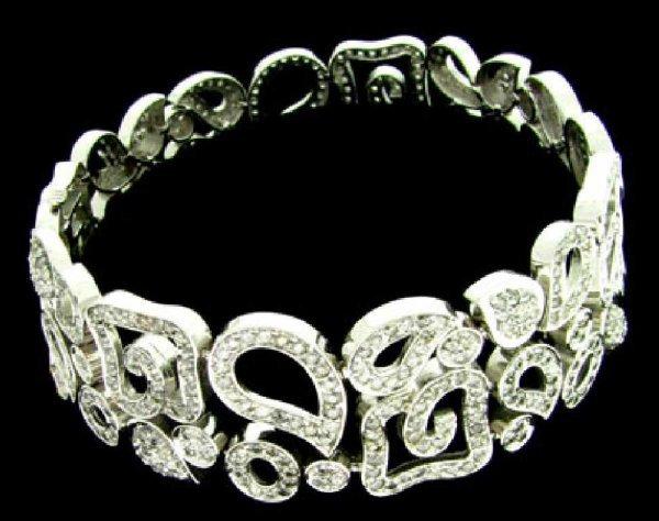 41: APP: 21.2k 14 kt. White Gold, 7.89CT Diamond Bracel