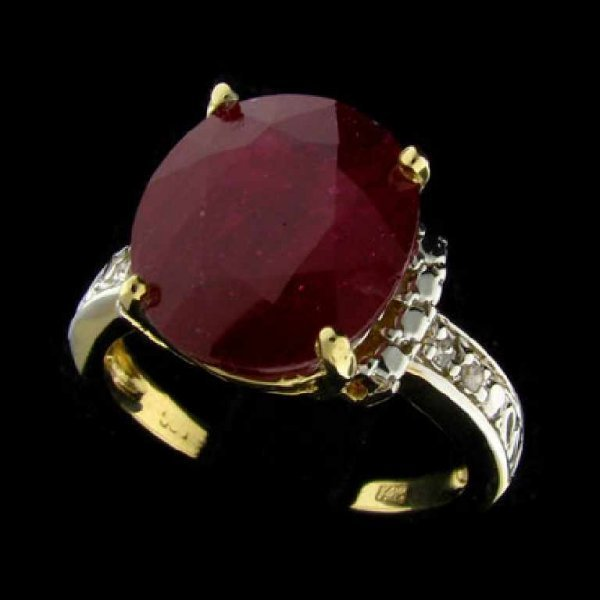 47: APP: 40.3k 14 kt. Gold, 6.90CT Ruby and Diamond Rin