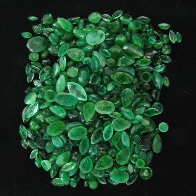 21: APP: 10.3k 51.68CT Mixed Cuts Emerald Parcel