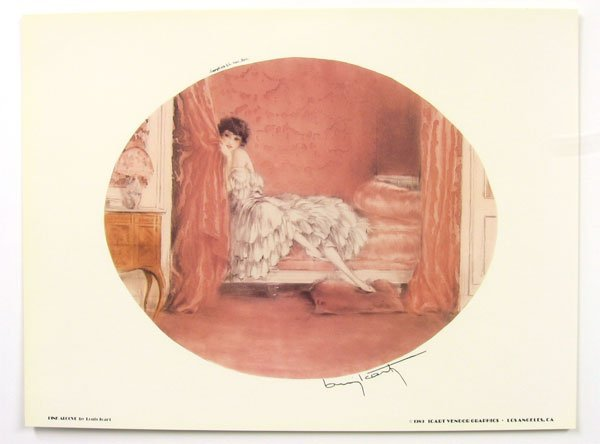 23: LOUIS ICART Pink Alcove Print, Open Edition
