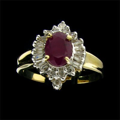 31: APP: 2.2k 14 kt. Gold, 0.68CT Ruby and Diamond Ring