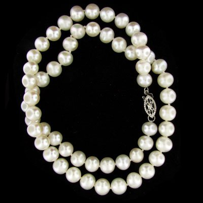 """37: 17"""" Freshwater Pearl Necklace-Single Long Strand"""