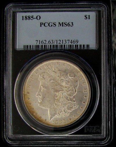 41: 1885-O U.S. Morgan Silver Dollar Coin-Investment Po