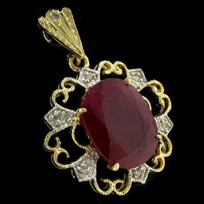 11: APP: 34k 14 kt. Gold, 11.50CT Ruby and Diamond Pend