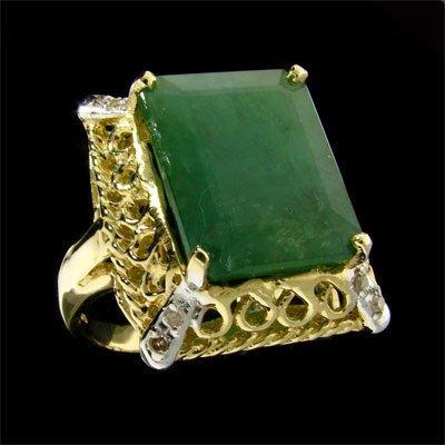 15: APP: 17.1k 14 kt. Gold, 8.17CT Emerald and Diamond