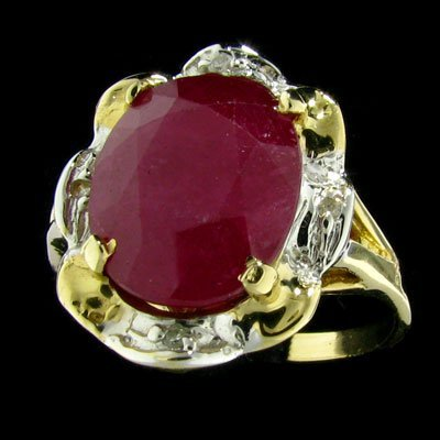 25: APP: 4.8k 14 kt. Gold, 5.59CT Ruby and Diamond Ring