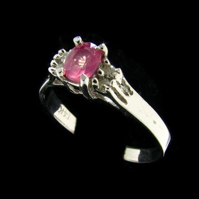 45: 14 kt. White Gold, 0.36CT Pink Sapphire and Diamond