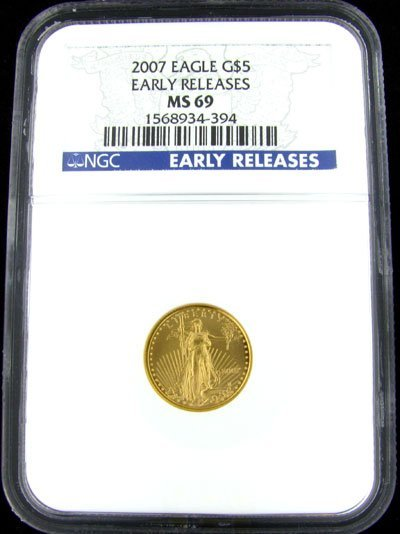 1: 2007 $5 US Eagle Gold Coin-Investment Potential