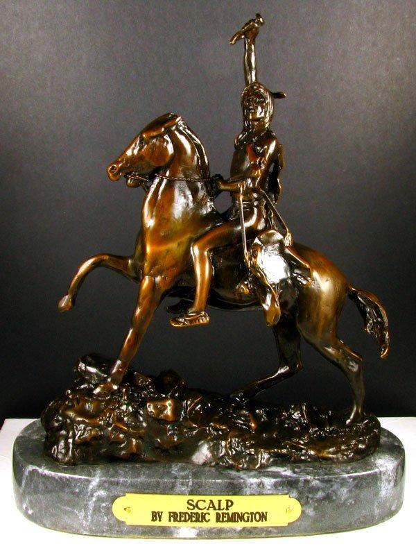 9: Frederic Remington Bronze Reproduction - Scalp