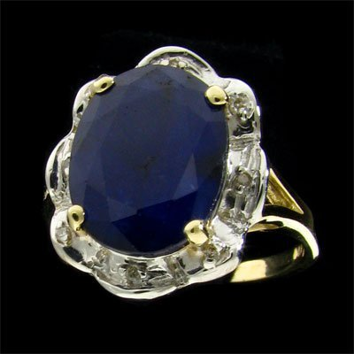 21: APP: 1.8k 14 kt. Gold, 4.33CT Sapphire and Diamond