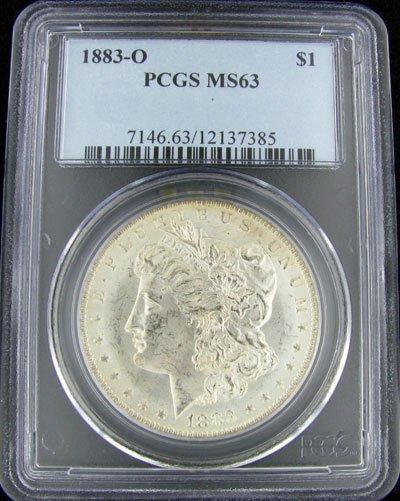 7: 1883-O U.S. Morgan Silver Dollar Coin-Investment Pot