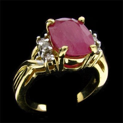 17: APP: 4k 14 kt. Gold, 2.84CT Ruby and Diamond Ring
