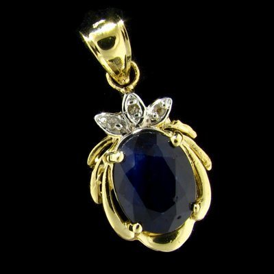 23: APP: 1.5k 14 kt. Gold, 2.00CT Sapphire and Diamond