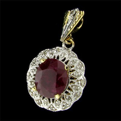 35: APP: 10.2k 14 kt. Gold, 5.71CT Ruby and Diamond Pen