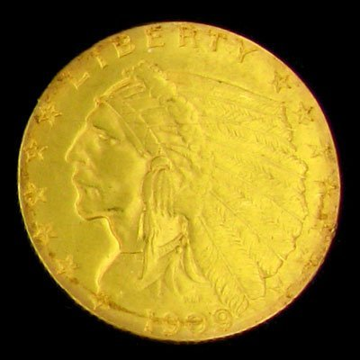 103: 1909 $2.5 U.S. Indian Head Type Gold Coin-Investme