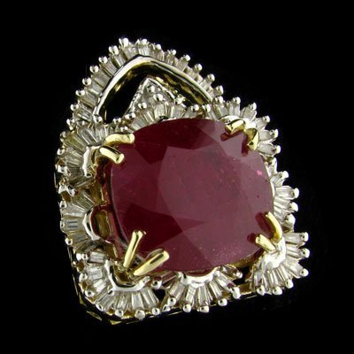 1: APP: 61.6k 14 kt. Gold, 21.36CT Ruby and Diamond Pen