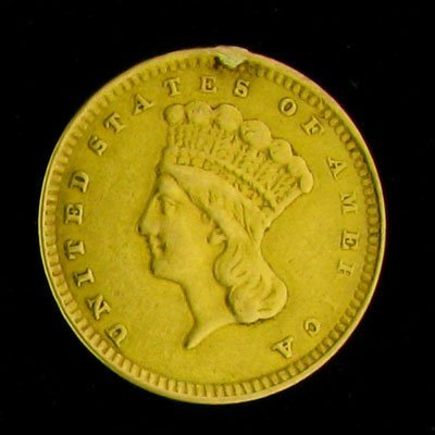 5: 1856 $1 U.S. Indian Head Type Gold Coin-Investment P