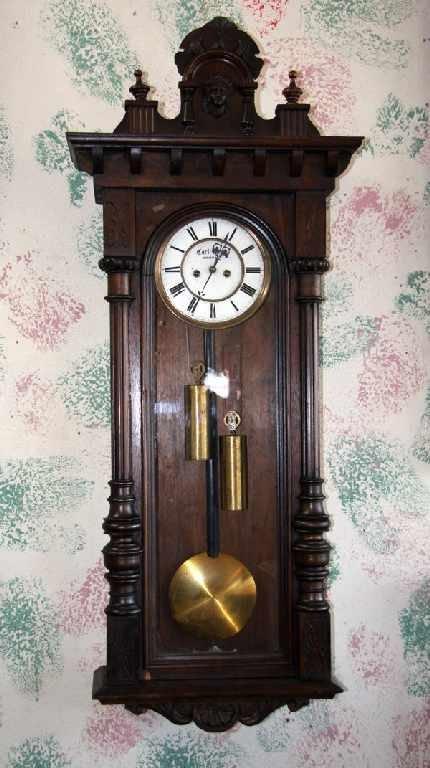2: Vienna 2 Weight Regulator-Walnut Clock-Ornate