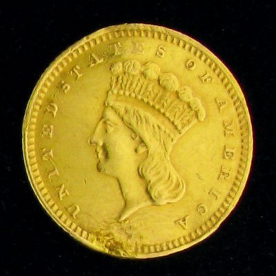 1: 1874 $1 U.S. Indian Head Type Gold Coin-Investment P