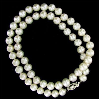 "5: 17"" Freshwater Pearl Necklace-Long Strand"