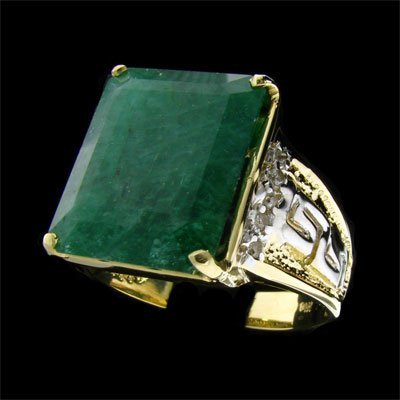 13: APP: 15.6k 14 kt. Y/W Gold, 10.80CT Emerald and Dia