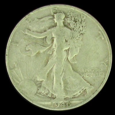 31: 1946-S U.S. Walking Liberty Half Dollar Coin-Invest