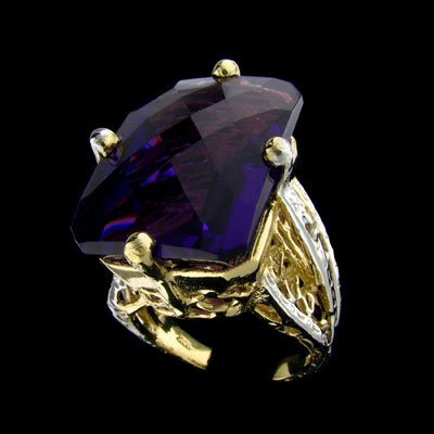 35: APP: 9.4k 14 kt. Gold, 28.88CT Amethyst and 0.03CT